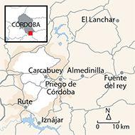 Ruta desde Iznájar hasta Priego de Córdoba