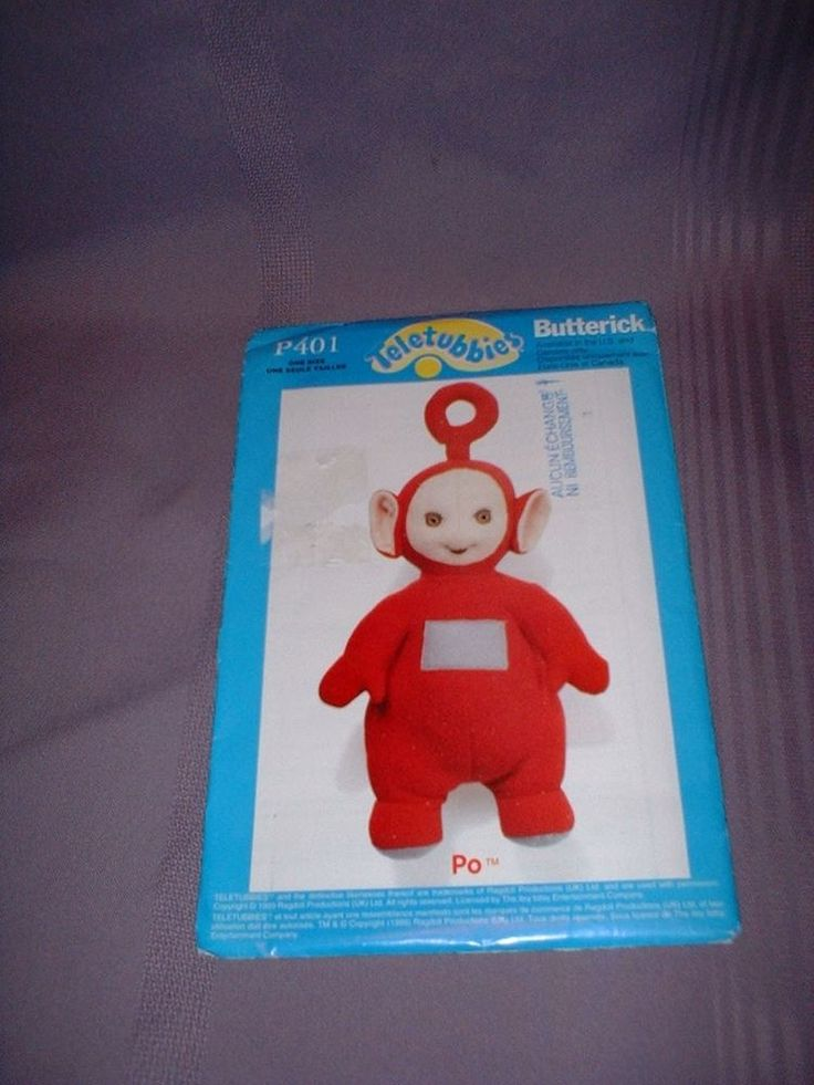 "BUTTERICK VINTAGE PATTERN P401 ~ 15"" PO TELETUBBIES with TRANSFER ~ NEW #Butterick"