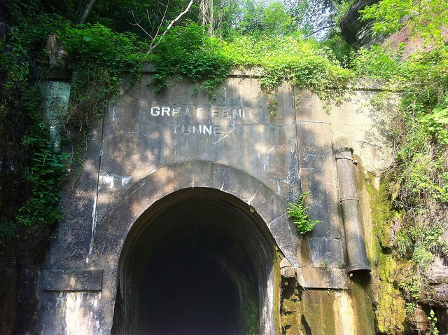 The Great Bend Tunnel where legend says John Henry worked and died. Talcott, WV