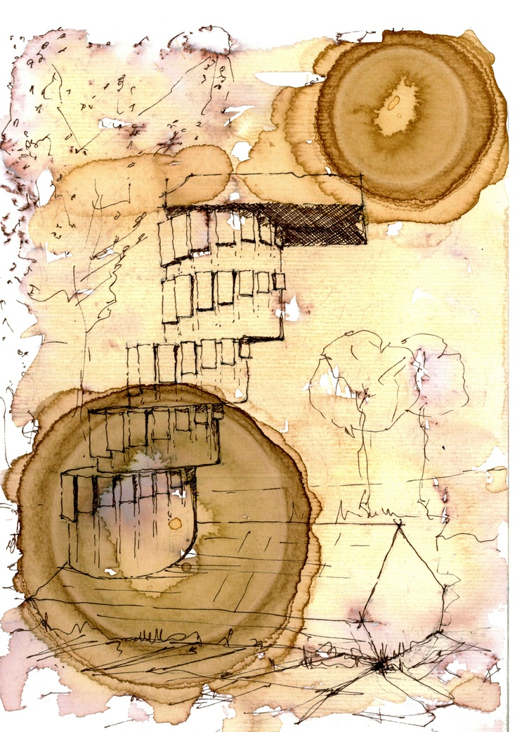 Continuity.(Watercolour ,Coffee,Pen)© 2012 by Alexandru Mihai Ticalo. All rights reserved