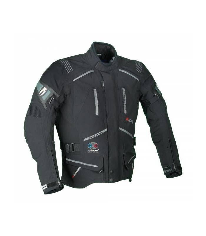 Moto bunda Richa TOURING C-CHANGE-černá-nadměrná velikost