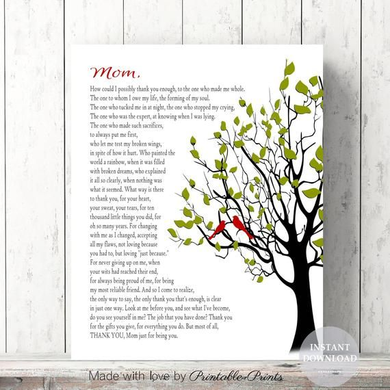 Mothers Day Gift For Mom Editable Instant Download Etsy Christmas Gifts For Mom Mother Poems Mom Poems