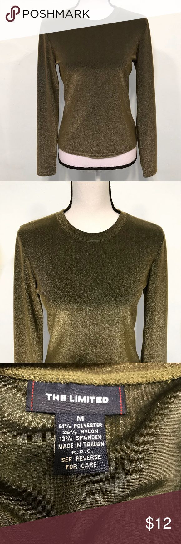 The Limited Metallic Long Sleeve Top The Limited Metallic Long Sleeve Top  Gold/Olive Color   Like NEW The Limited Tops