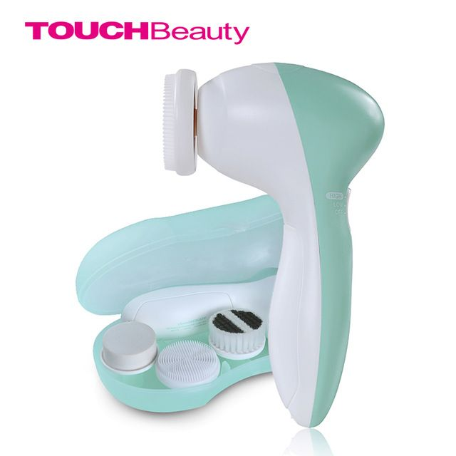 TOUCHBeauty rand Face Cleanser 3 in1 Heads Facial Cleansing Brush