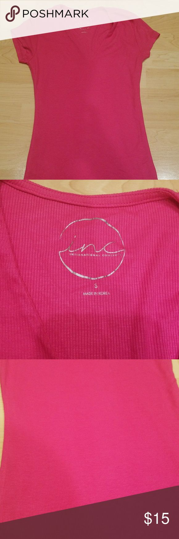 INC pink short sleeve top size small Basic pink thirt INC International Concepts Tops Tees - Short Sleeve