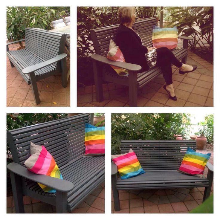 Large Park Bench  Find us on Facebook