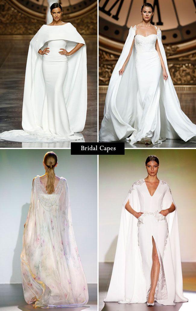 Wedding dress trend: bridal capes from Barcelona Bridal Week