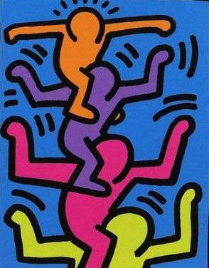 """~ art work by Keith Haring titled """"Keith Haring 016"""""""