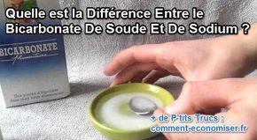 Mais, aviez-vous remarqué que ce produit miracle possède plusieurs noms ? « Bicarbonate », « bicarbonate de soude », « bicarbonate de sodium », « bicarbonate alimentaire », « sel de Vichy », « petite vache » (au Canada), etc. Heureusement, voici la différence entre toutes ces appellations :  Découvrez l'astuce ici : http://www.comment-economiser.fr/bicarbonate-soude-sodium-difference.html?utm_content=buffer1fd58&utm_medium=social&utm_source=pinterest.com&utm_campaign=buffer