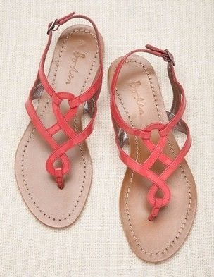 Coral sandals by Coeny