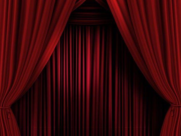 Rideaux rouges scène de théâtre - rideau scène spectacle