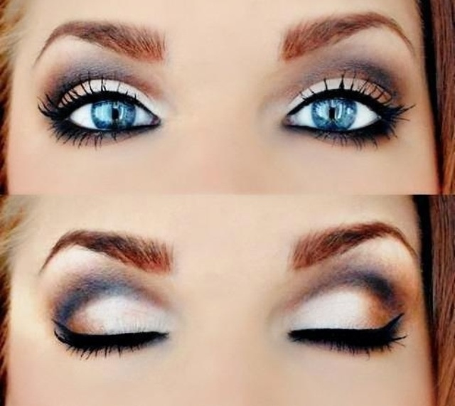 smokey eye for blue eyes | Boudoir photo idea | Pinterest