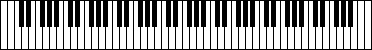 Piano keyboard (could use this as a pattern for craft foam keyboard)