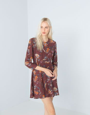 Bershka Switzerland - Bershka folk print dress