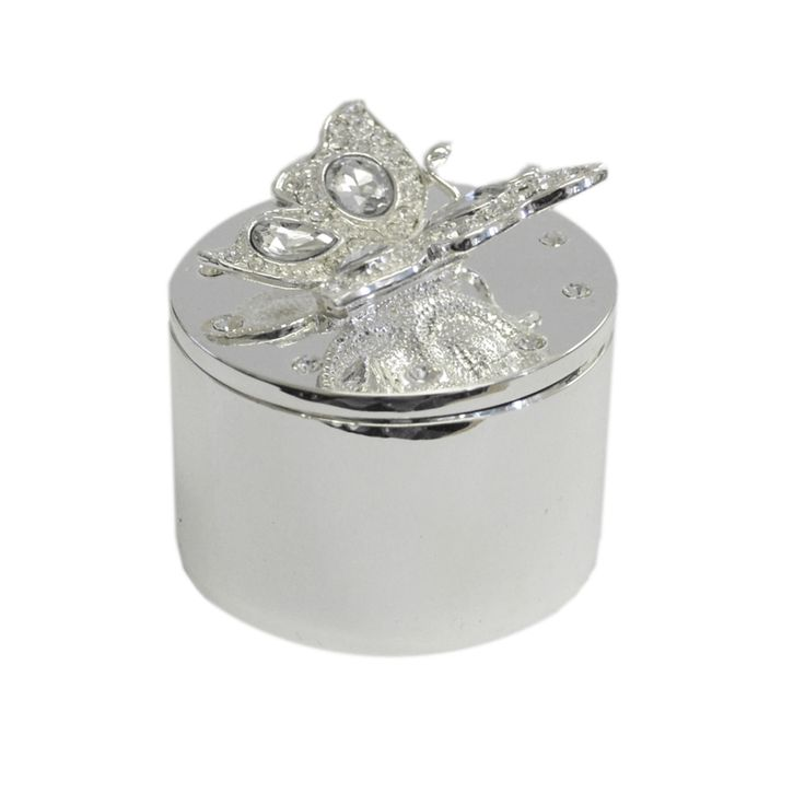 Trinket Box with a Crystal Butterfly  This trinket box would make an ideal gift for Mother's Day. £10.99 Free UK Delivery