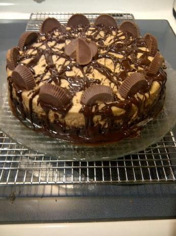 Peanut Butter Cup Brownie Bottom Cheesecake. Photo by sagelakos