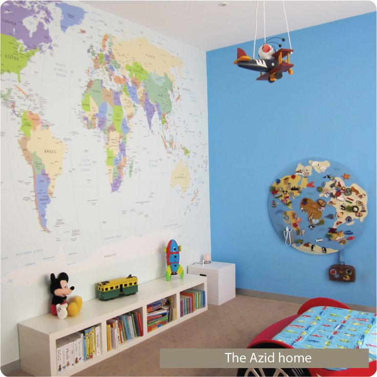 World Map Wall Sticker - Wall Sticker Company