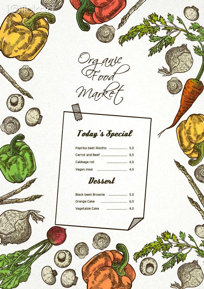 #menu #vegetable #organic #food  #restaurant   #illustration   #image   #stockimage   #npine   #iclickart