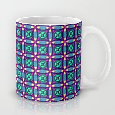 Vintage Patchworky Pattern Mug by Sara PixelPixie - $15.00