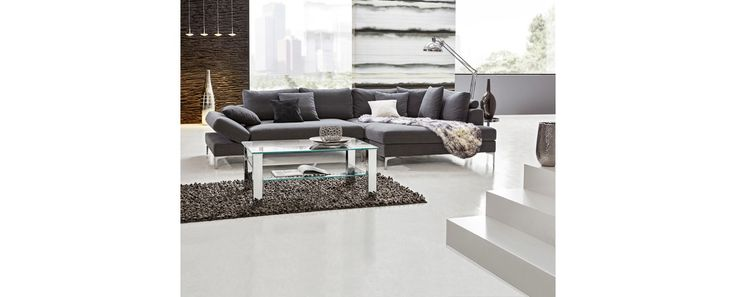 WOHNLANDSCHAFT Grau Flachgewebe - Wohnlandschaften - Polstermöbel - Wohnzimmer - Produkte