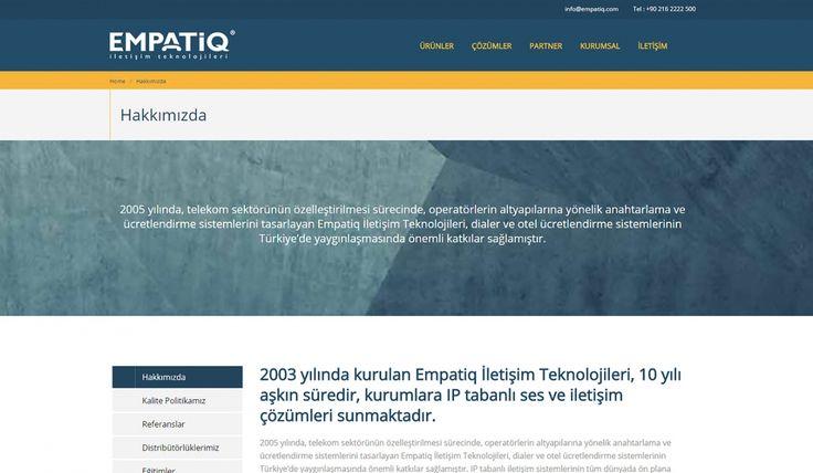 Empatiq Telekom Kontrol Panelli Web Sitesi - İç Sayfa - Silüet Tanıtım Web Tasarım