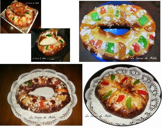 La Cocina de Adita: Mis 4 Roscones de Reyes