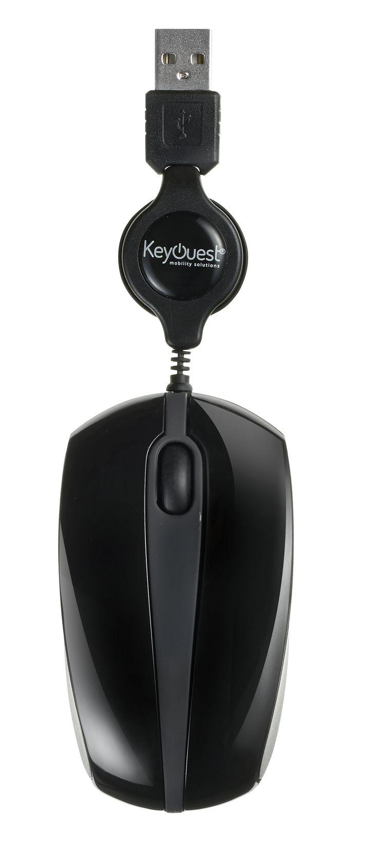 Mini souris filaire rétractable MOVE-IT Noire - KeyOuest http://www.keyouest-mobility.com/produits/mini-souris-filaire-retractable-move-it-keyouest/