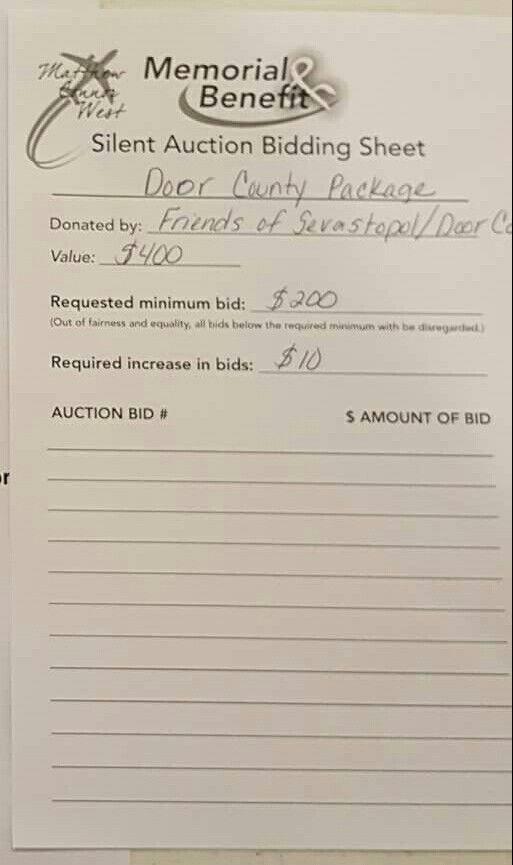 Beste Ideen Over Silent Auction Bid Sheet Op