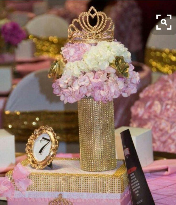 17 best dorado blanco y rosa cumplea os babyshower for Decoracion de cumpleanos rosa y dorado