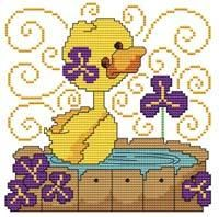Friends Duckling Cross Stitch Pattern (257696) Embroidery Patterns by Cross Stitch Wonders