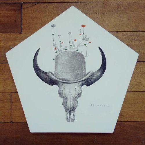 """"""" El señor de la primavera """" posa calientes, pieza única #Himallineishon #art #illustration #homedecor"""