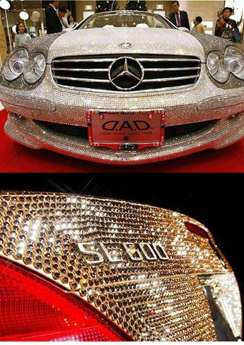 Most expensive car in the world! Covered in crystals!
