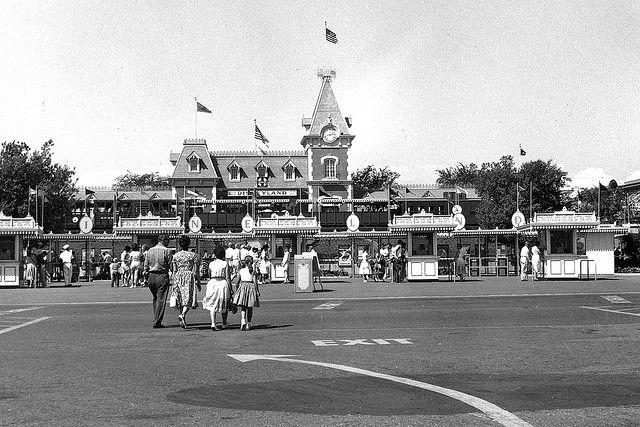 Disneyland entrance, Anaheim, circa 1960 by Orange County Archives, via Flickr