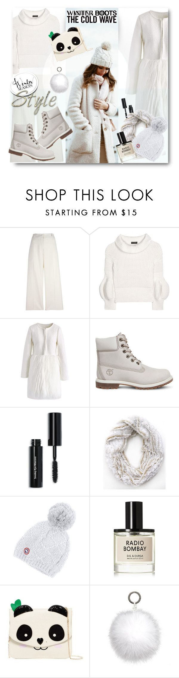 """""""Cozy Winter Boots"""" by esch103 ❤ liked on Polyvore featuring Ermanno Scervino, Burberry, Chicwish, Timberland, Bobbi Brown Cosmetics, Canada Goose, D.S. & DURGA, Betsey Johnson, Oscar de la Renta and winterboots"""