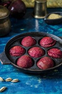 Sweet Beetroot Thinai Paniyaram, a healthy & nutritious south Indian style dessert (sweet dumplings) prepared from foxtail millet, beetroot, oats and jaggery. Foxtail millet can be replaced by any other millet like little millet, pearl millet, finger millet, etc..
