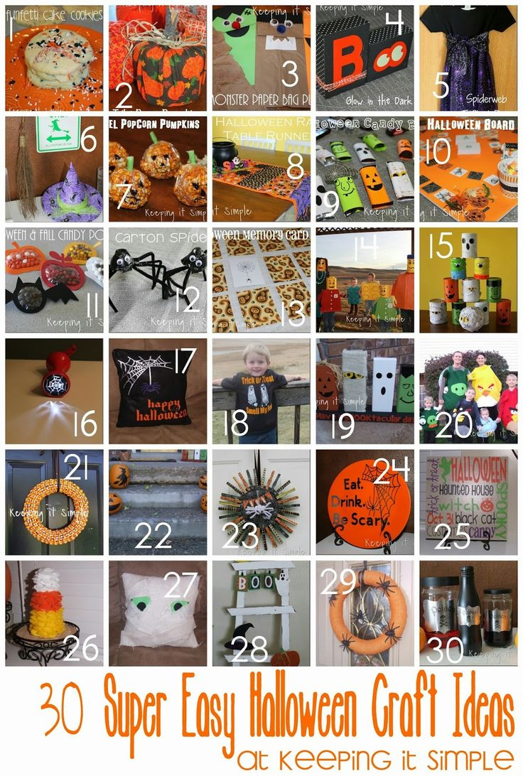 30 Super Easy Halloween Craft Ideas #Halloween #keepingitsimplecrafts @keepingitsimple