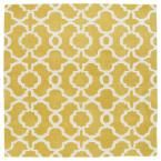 Revolution Yellow 11 ft. 9 in. x 11 ft. 9 in. Square Area Rug