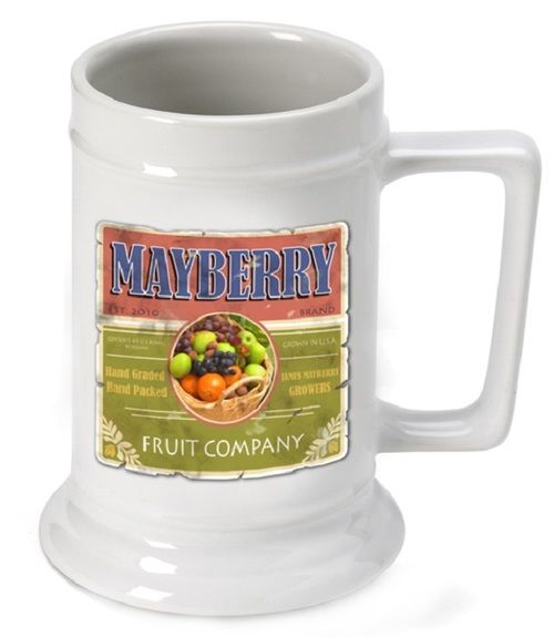 Personalized German Beer Stein Fruit Company Mug