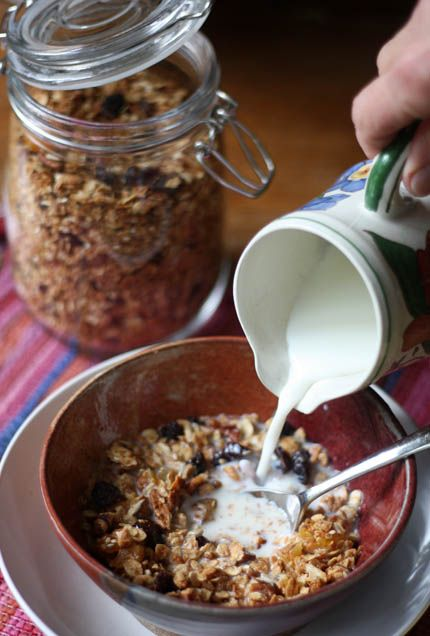 Aunt Melissa's Granola. It was so popular she ended up selling it to the local co-ops and then beyond.( I made this today, mmmmmm!!! This is a keeper!!! )