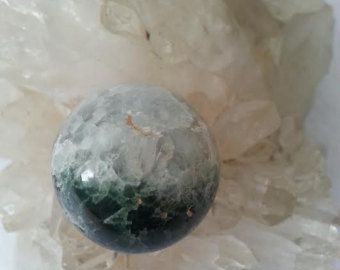 "Ocean Jasper Sphere Polished Healing Crystal ""Sea Jasper"" ""Fish Eye"" Poppy Druzy Quartz Ball"