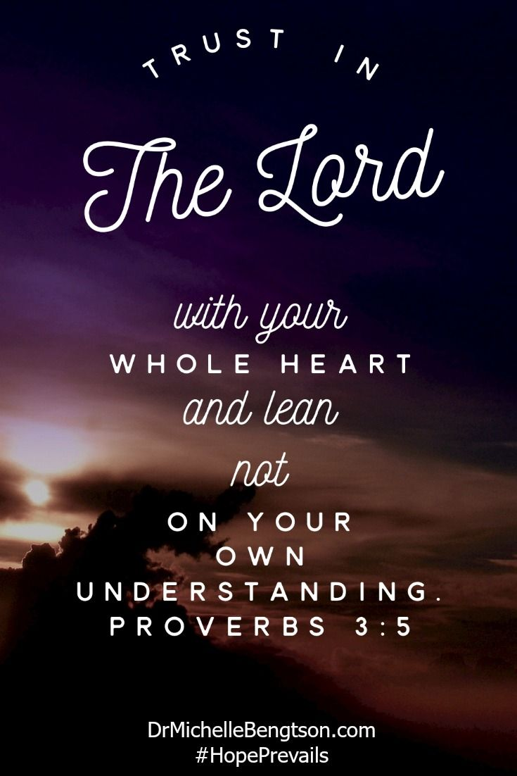 Trust in the Lord with your whole heart and lean not on your own understanding Scripture VersesBible