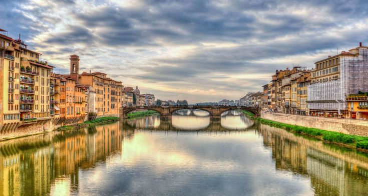 #architecture #arno river #clouds #dusk #europe #firenze #florence #italy #landmark #mediterranean #reflection #river #sunset #tourism