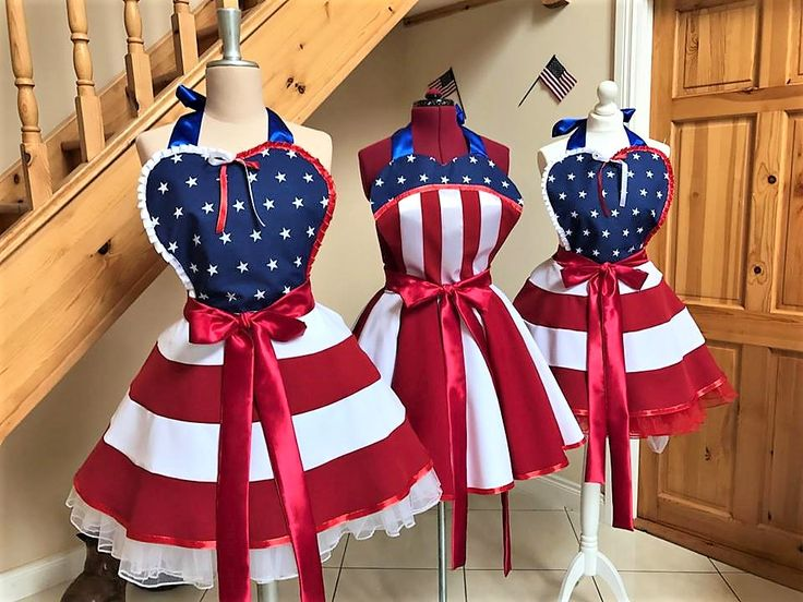 IT'S ALMOST 4th of JULY! Are you ready?! #USO #4thofjuly #captainamerica #USOgirl #patriotic #flagdress #flagapron #dress #dresses #usogirl