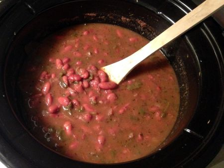 Louisiana Red Beans Recipe in the Slow Cooker