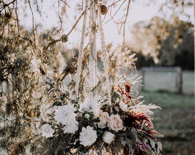 Ceremony Decor / XL Macrame Plant Hanger / Rustic Outdoor / Wedding Decor / Aisle Decor / Macrame Wedding / Backdrop / Macrame Arch / Boho #bohowedding #bohemian #weddingideas
