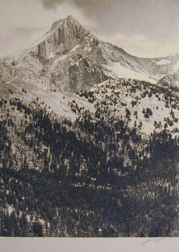 """Mount Clarence King"" Ansel Adams 1927"