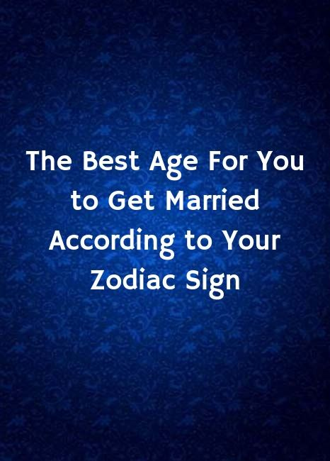 when will get married according to my horoscope