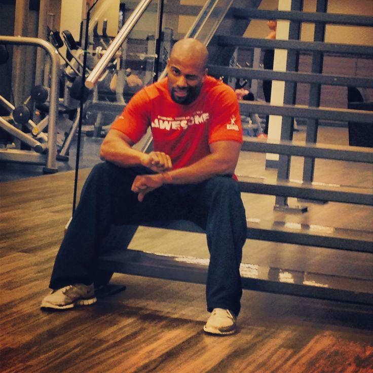 Phil being put through Trainer Montana Kitt's workout program!  #clublife #boom
