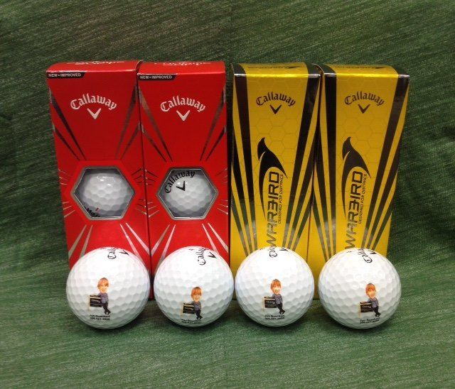 Pick your favorite brand of golf ball and put a logo on it!!