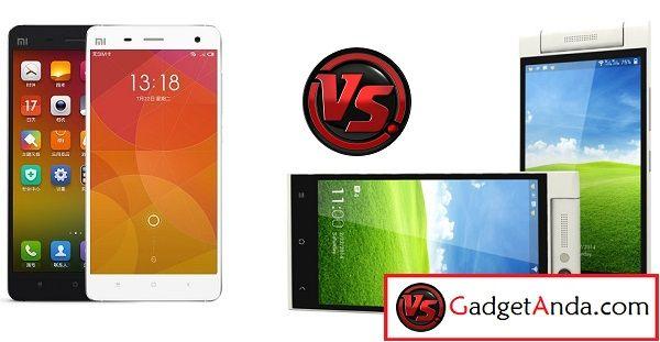 Spesifikasi dan Harga Himax Pure 3 vs Xiaomi Mi4
